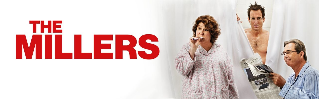 (1. Staffel) - The Millers - Eine Familie im Ausnahmezustand: Nathan (Will Arnett, M.), Carol (Margo Martindale, l.) und Tom (Beau Bridges, r.) ... - Bildquelle: 2013 CBS Broadcasting, Inc. All Rights Reserved.