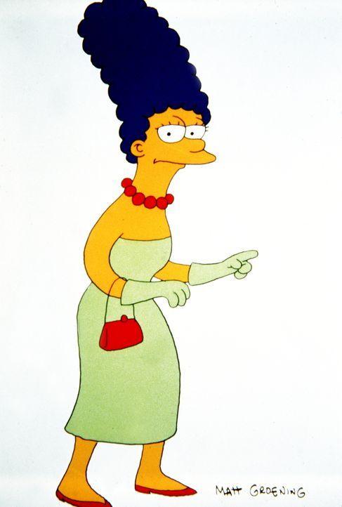 (4. Staffel) - Immer um Anstand und Sitte in der chaotischen Simpson-Familie bemüht: Mutter Marge. - Bildquelle: und TM Twentieth Century Fox Film Corporation - Alle Rechte vorbehalten