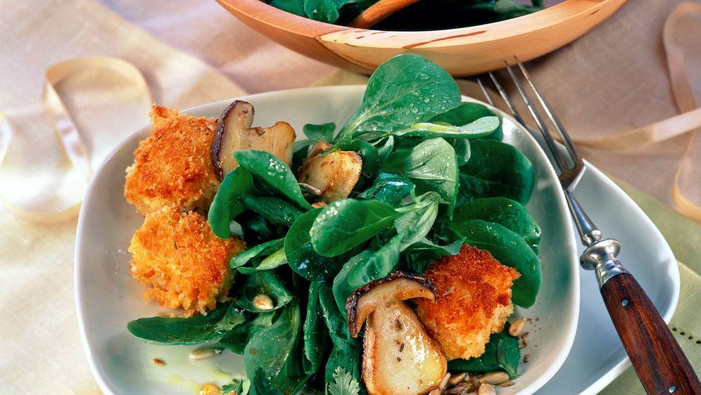 Champignonsalat mit Feldsalat