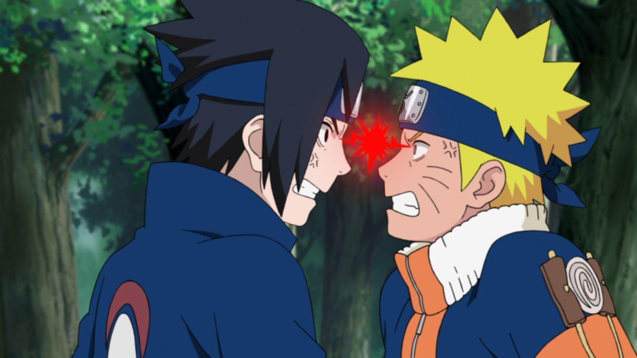(v.l.n.r.) Itachi Uchiha; Naruto Uzumaki - Bildquelle: 2002 MASASHI KISHIMOTO / 2007 SHIPPUDEN