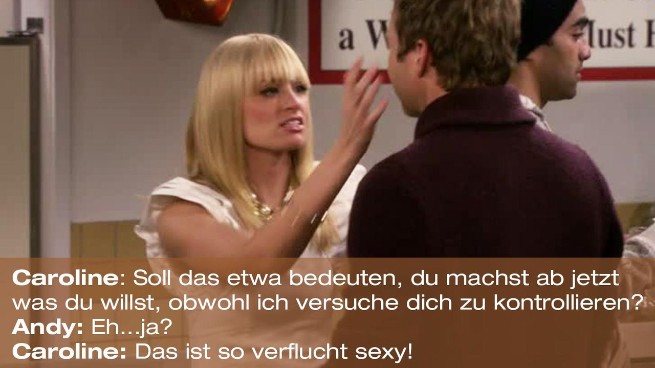 2-broke-girls-zitat-quote-staffel2-episode10-grosse-eroeffnung-caroline-kontrollieren-warnerpng 1600 x 900 - Bildquelle: Warner Bros. International Television