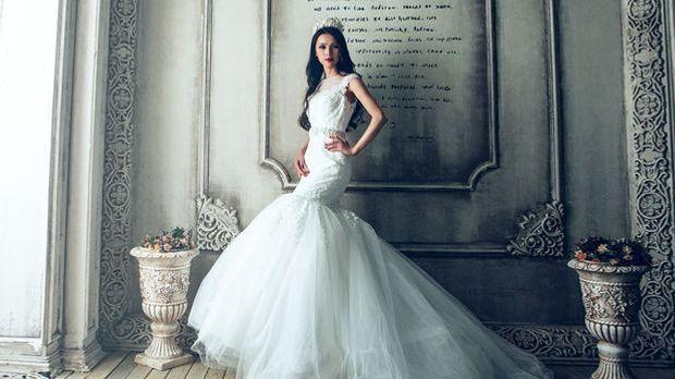 Richtig gestylt und an der passenden Figur kann ein Brautkleid im Meerjungfra...