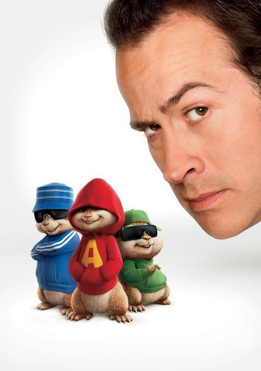 Der Ruhm beginnt Simon (l.), Theodore (2.v.r.) und besonders Alvin (M.) gehörig zu Kopf zu steigen, und sie werden immer ungezogener und verwöhnter.... - Bildquelle: 20th Century Fox