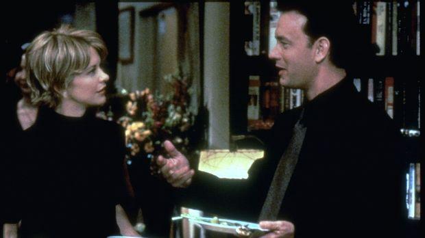 Noch ahnen Kathleen Kelly (Meg Ryan, l.) und Joe Fox (Tom Hanks, r.) nicht, d...