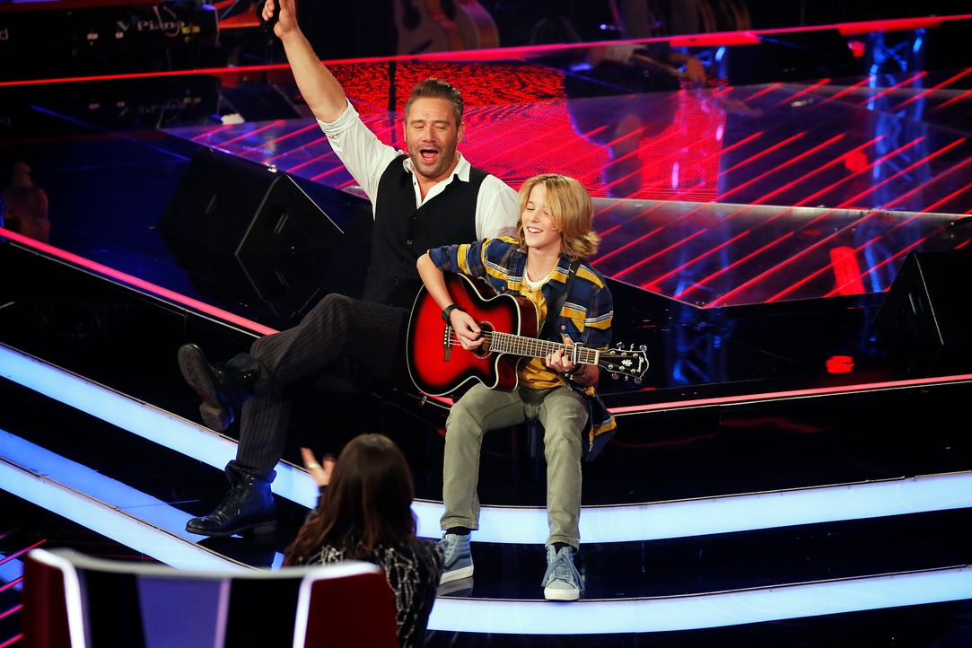 The-Voice-Kids-s04e01-Matteo-Markus-2-SAT1-Richard-Huebner - Bildquelle: SAT.1/ Richard Huebner