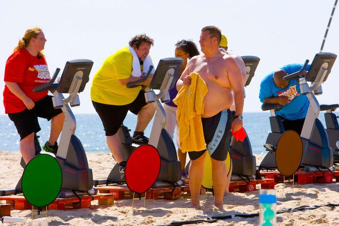 The-Biggest-Loser-Mini-Triathlon-Folge1-0006 - Bildquelle: SAT.1/Enrique Cano