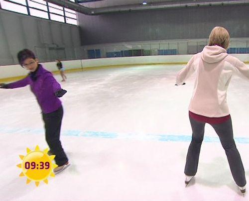 fruehstuecksfernsehen-gaby-papenburg-eiskunstlauf-004 - Bildquelle: Sat.1