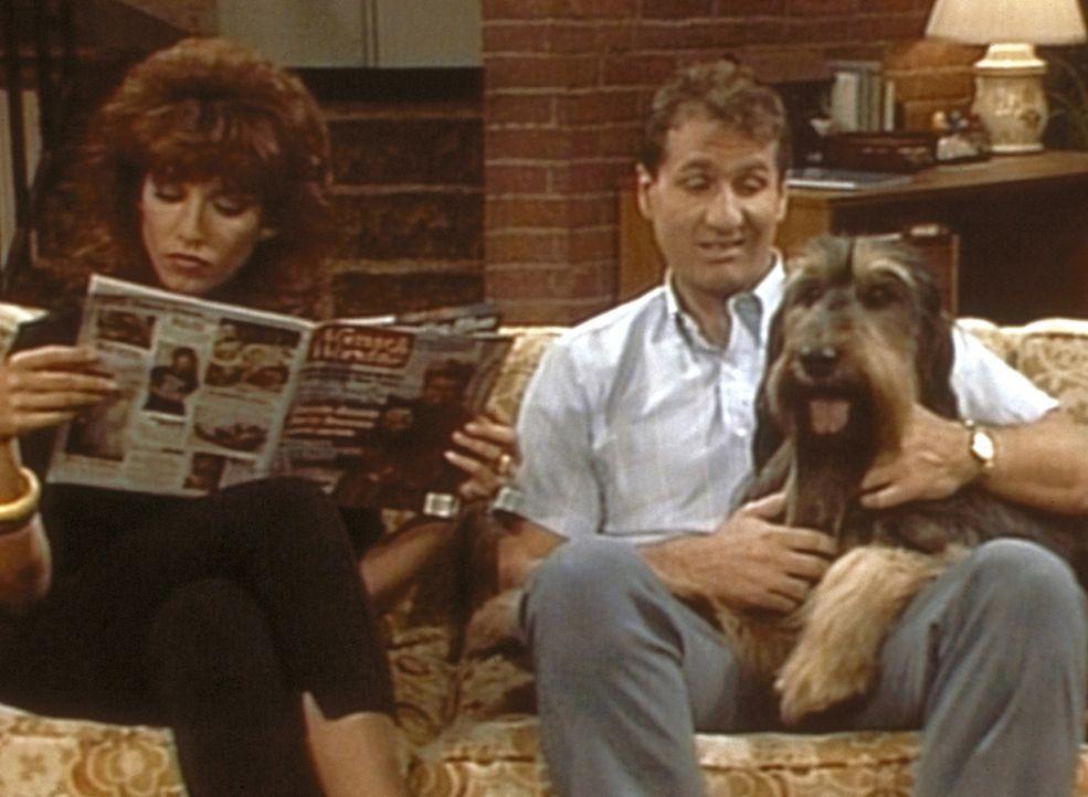 Während Peggy (Katey Sagal, l.) verlangt, dass Hund Buck kastriert wird, lehnt Al (Ed O'Neill, r.) den Eingriff aus Solidarität mit seinem Geschlech... - Bildquelle: Sony Pictures Television International. All Rights Reserved.