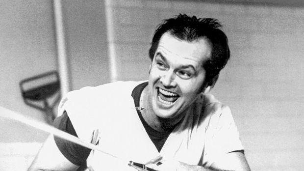 """Jack Nicholson in """"Einer flog übers Kuckucksnest"""" (1975)"""