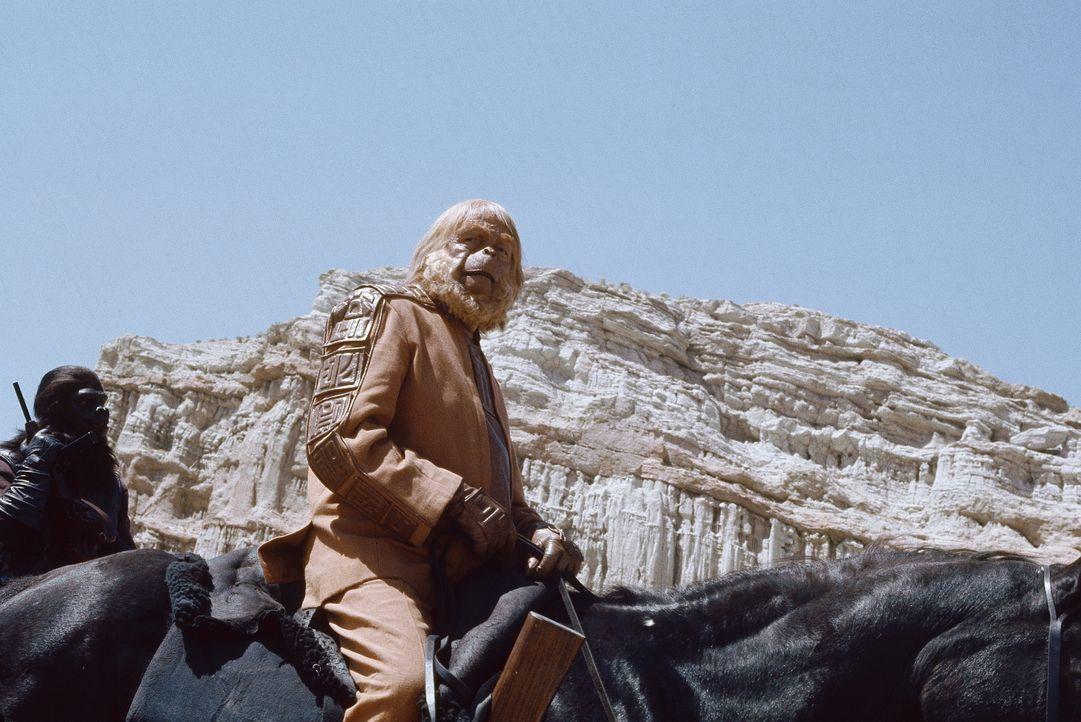 """Dr. Zaius (Maurice Evans) zieht in den Krieg gegen die Menschen der """"Verbotenen Zone"""". - Bildquelle: 20th Century Fox"""