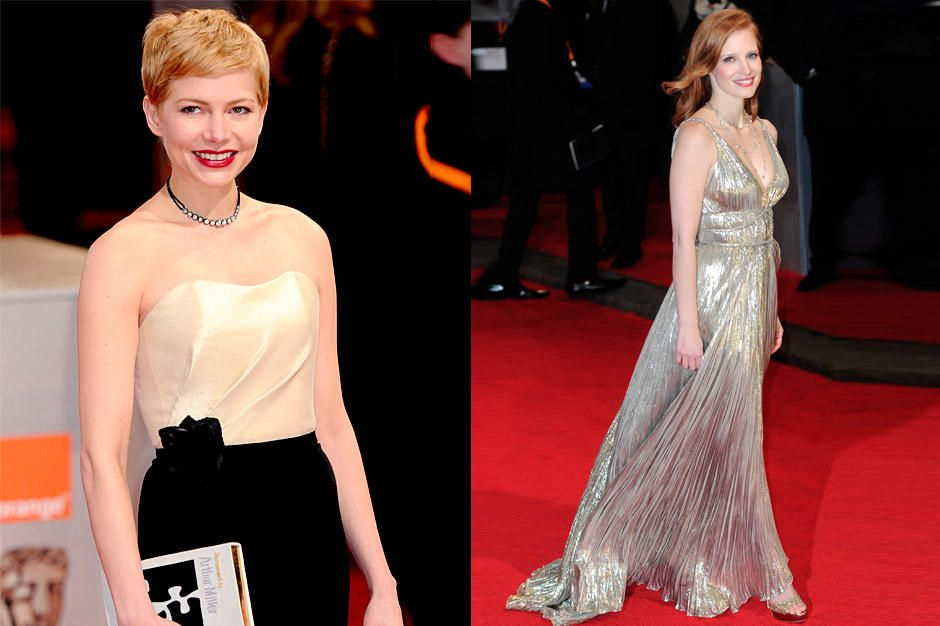 michelle-williams-jessica-chastain-12-02-12-bafta-london-afpjpg 940 x 626 - Bildquelle: getty-AFP