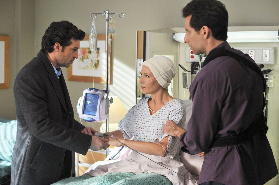 Derek (Patrick Dempsey, l.) kümmert sich um seine Patientin Jen (Jennifer Westfeldt, M.). Es ist noch nicht klar, ob sie und das Baby alles übersteh... - Bildquelle: ABC Studios