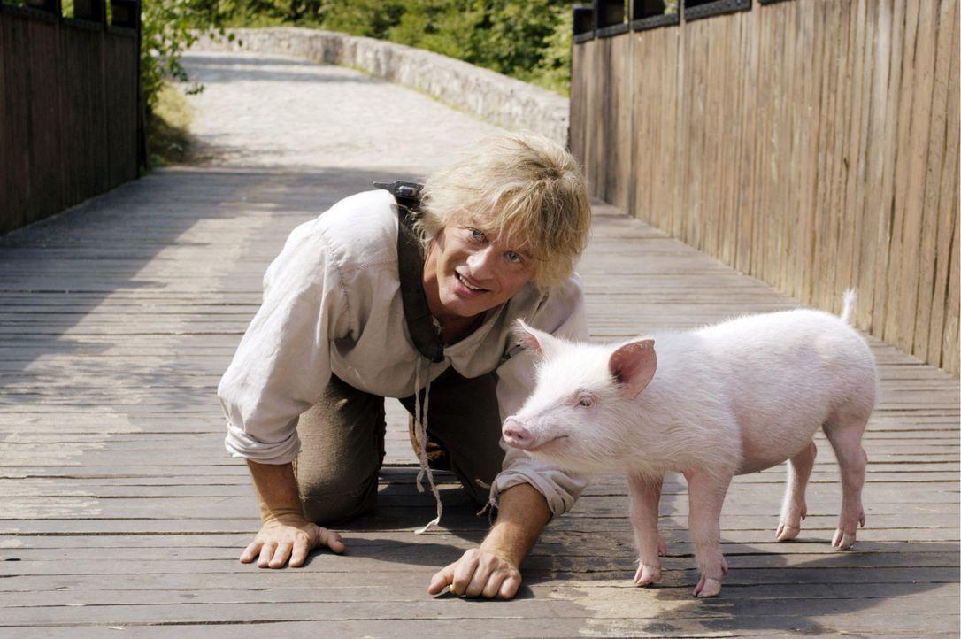Das Schwein ist bald Siegfrieds (Tom Gerhardt) einziger Freund, denn durch seine Stärke passieren oft Missgeschicke, unter denen zumeist die Dorfbe... - Bildquelle: Constantin Film