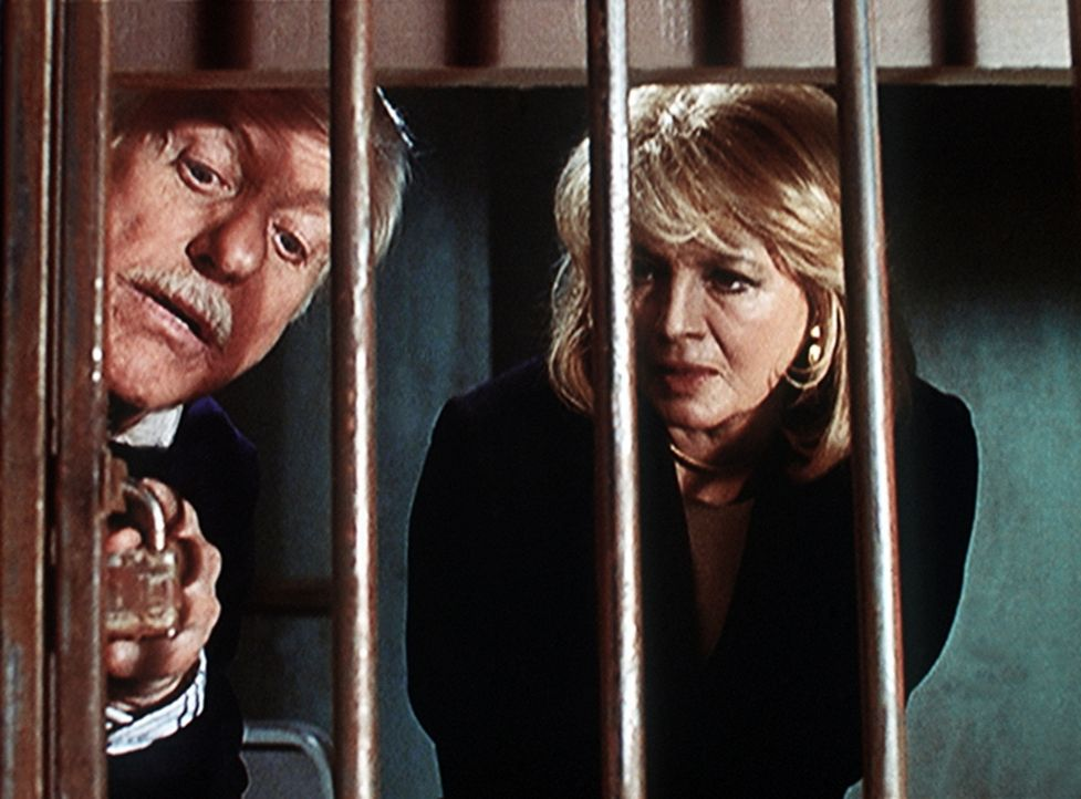 Dr. Sloan (Dick Van Dyke, l.) vermutet, dass Captain Pike (Angie Dickinson, r.) in dem Mordfall verwickelt ist. - Bildquelle: Viacom
