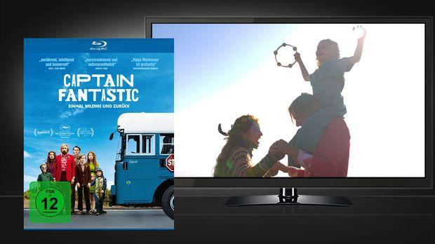 Captain Fantastic Blu-ray Cover und Szene © Universum Film