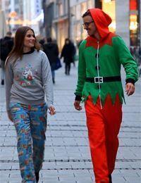 Weihnachtstrend Christmas-Pyjama