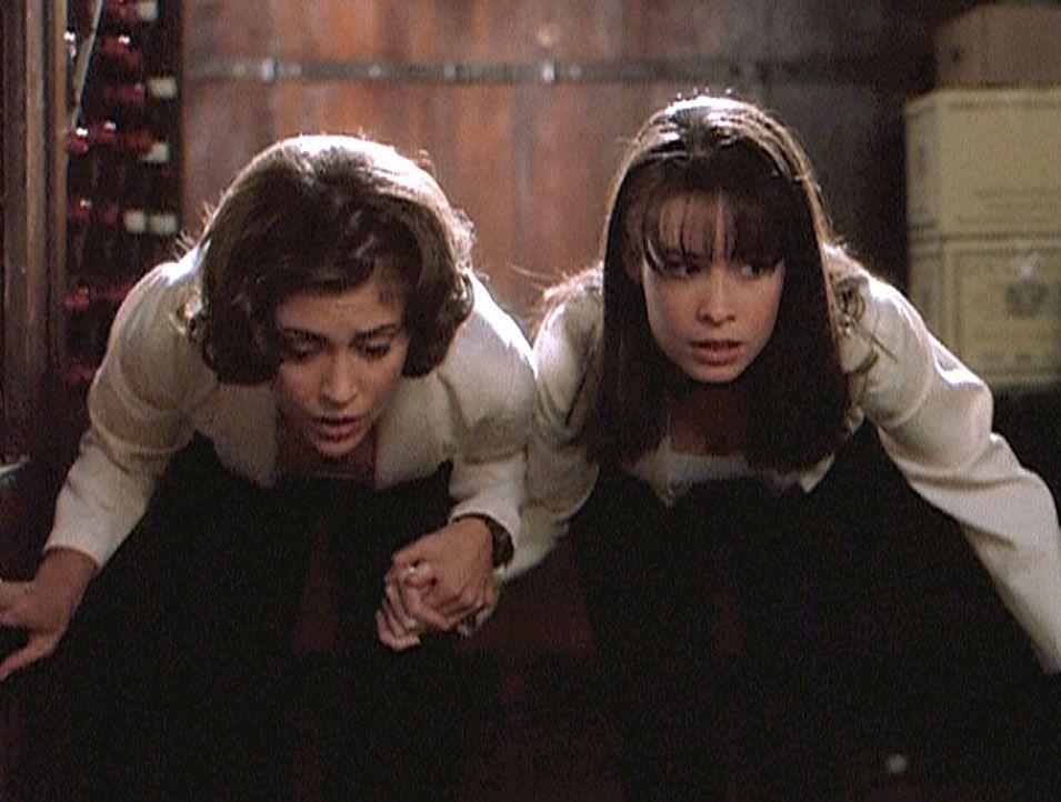 Während der Vorbereitungen einer Hochzeitsgesellschaft machen Phoebe (Alyssa Milano, l.) und Piper (Holly Marie Combs, r.) eine schreckliche Entdeck... - Bildquelle: Paramount Pictures