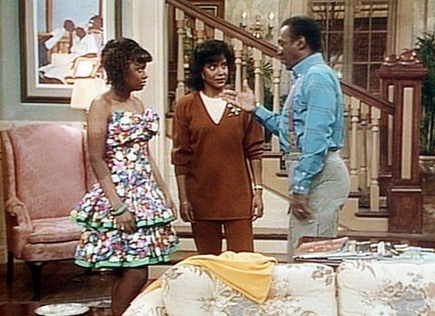 Bill Cosby Show - Cliff (Bill Cosby, r.) findet Vanessas (Tempsett Bledsoe, l...