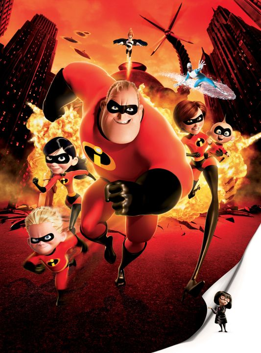 Diese Familie ist nicht zu stoppen (v.l.n.r.): Flash, Violetta, Mr. Incredible, Elastigirl und Baby Jack Jack ... - Bildquelle: Disney/Pixar. All rights reserved