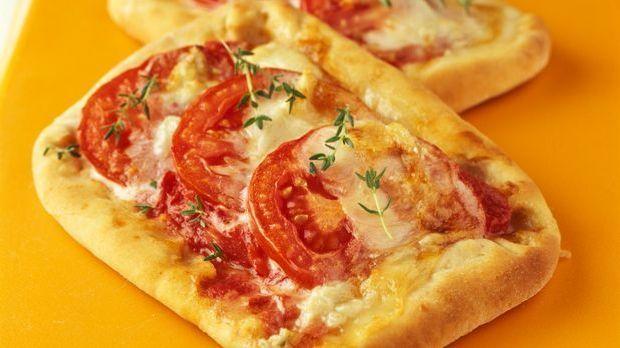 Leckere Tomatenpizza