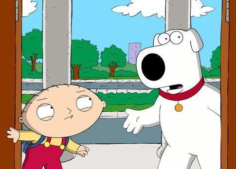 Family Guy - Brian (r.) und Stewie (l.) begeben sich auf eine Reise in die Ve...