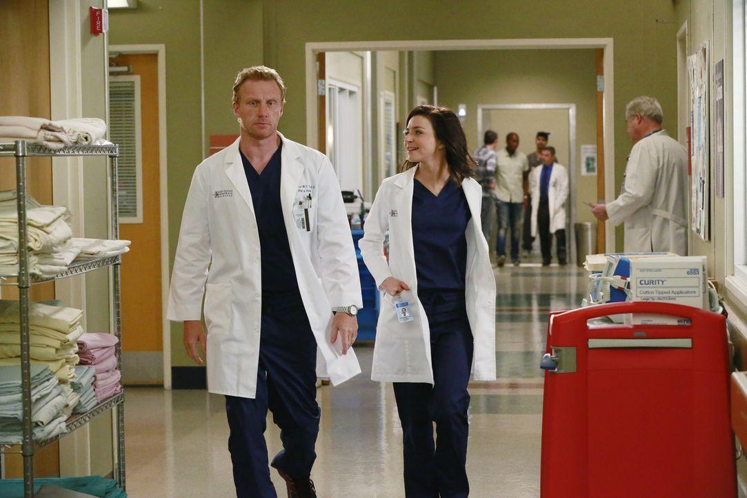 Ihr Streit wirkt sich auch auf ihre Kollegen aus: Owen (Kevin McKidd, l.) und Amelia (Caterina Scorsone, r.) ... - Bildquelle: ABC Studios