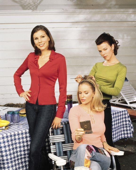 Gehen durch dick und dünn: Lydia (Heather Paige Kent, l.), Candy (Kristin Bauer, M.) und Jackie (Debi Mazar, r.) ... - Bildquelle: CBS Television