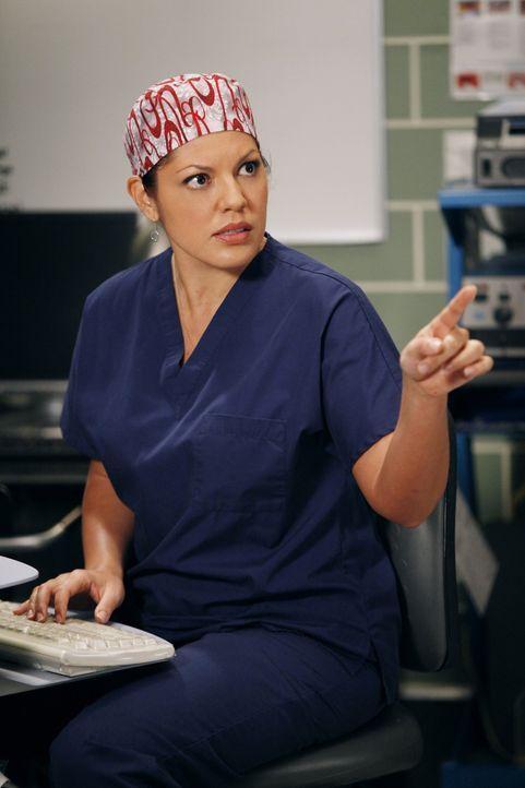 Die Ärzte werden für einen riskanten Eingriff an Siamesischen Zwillingen in Teams aufgeteilt: Callie (Sara Ramirez) ... - Bildquelle: ABC Studios