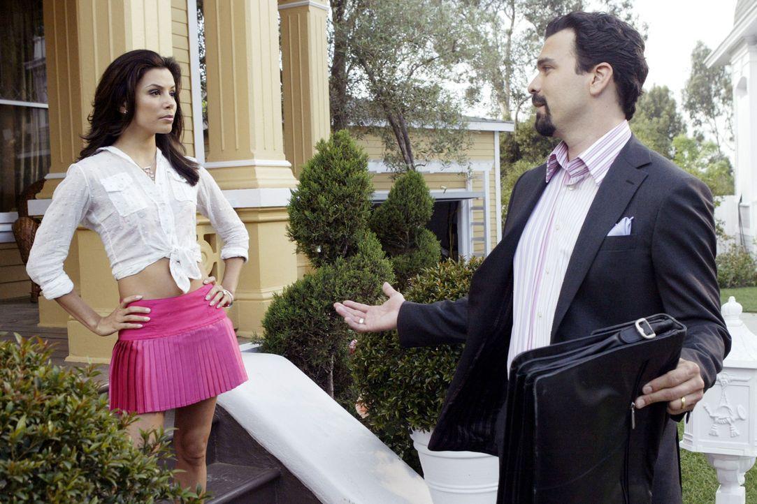Während der geschäftstüchtige Carlos (Richard Antonio Chavira, r.) in der Arbeit ist, pflegt Gabrielle (Eva Longoria, l.) ihre Liebschaft mit dem... - Bildquelle: Touchstone Television