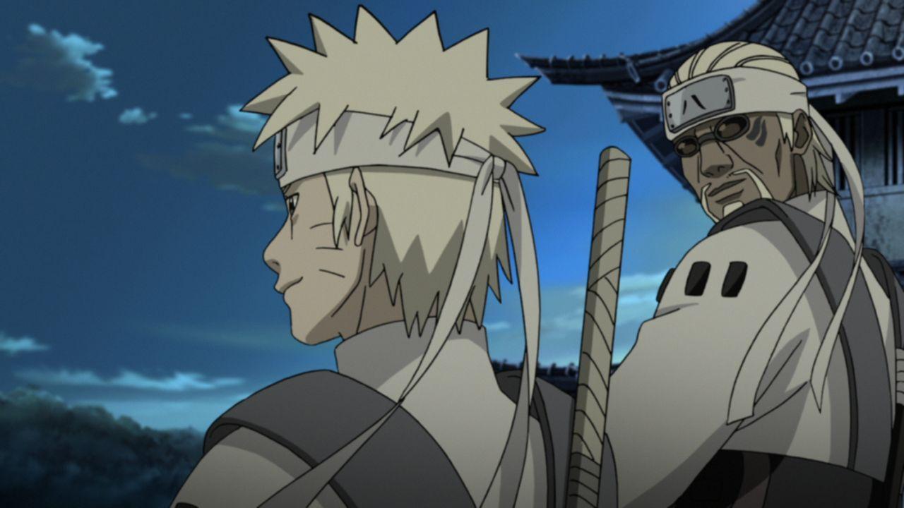 (v.l.n.r.) Naruto Uzumaki; Killer B - Bildquelle: 2002 MASASHI KISHIMOTO / 2007 SHIPPUDEN