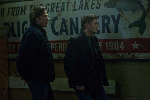 Supernatural - Als Sam (Jared Padalecki, l.) und Dean (Jensen Ackles, r.) kla...