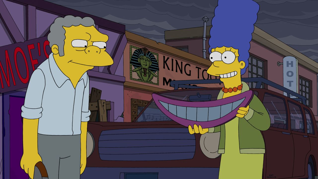 Die Beziehung zu Homer leidet. Marge (r.) ist zunehmend gestresst und macht sich auch noch jede Menge Feinde: Sie fährt Leute für Geld durch Springf... - Bildquelle: 2014 Twentieth Century Fox Film Corporation. All rights reserved.