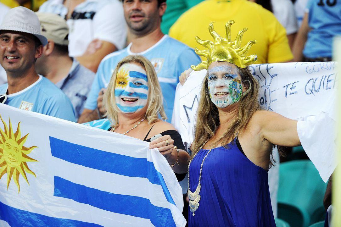 Sonnige Stimmung bei den uruguayischen Fans - Bildquelle: dpa