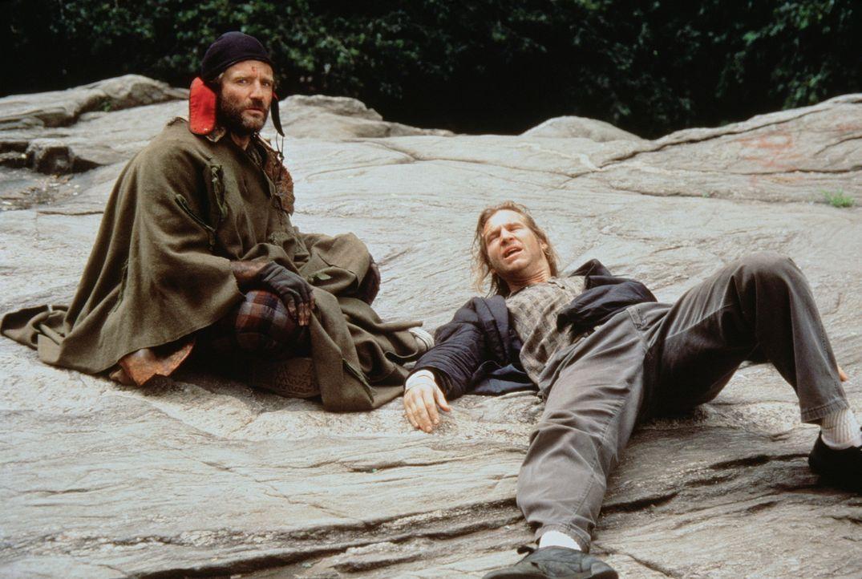 """""""Down and out"""" in Manhattan sind der frühere Geschichtsprofessor Parry (Robin Williams, l.) und der einst gefeierte Radiomoderator Jack (Jeff Bridg... - Bildquelle: TriStar Pictures"""