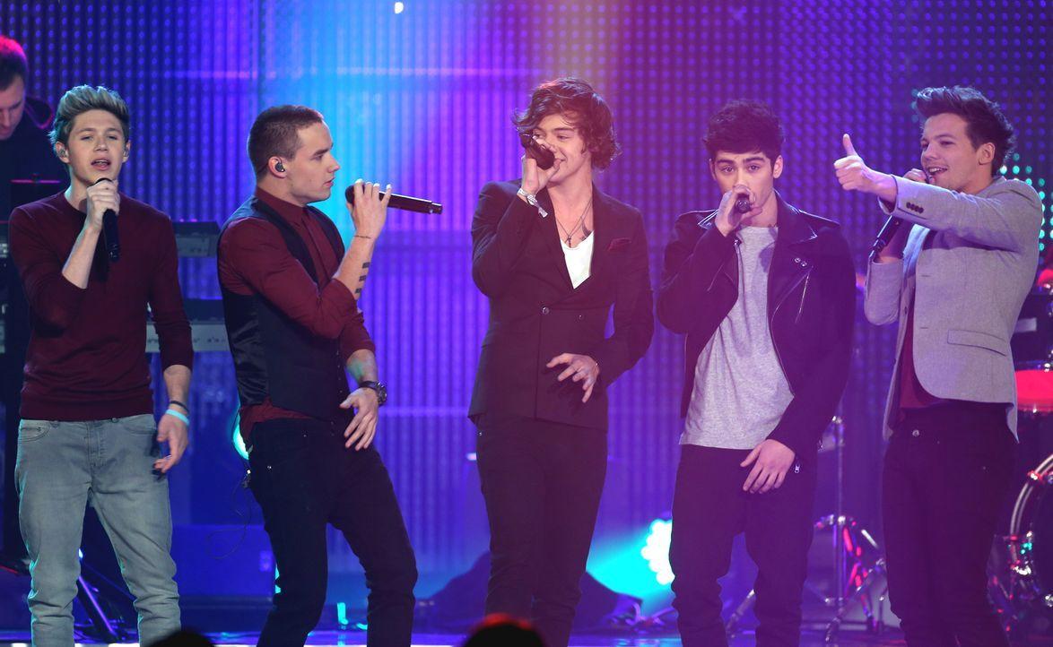 """Die britische Boyband """"One Direction"""" - Bildquelle: Verwendung weltweit, usage worldwide"""