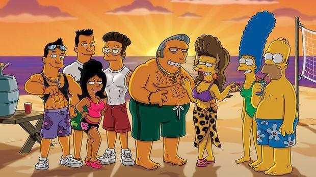 Die Mafiosi-Braut: Fat Tony (4.v.r.), Selma (3.v.r.), Marge (2.v.r.) und Home...