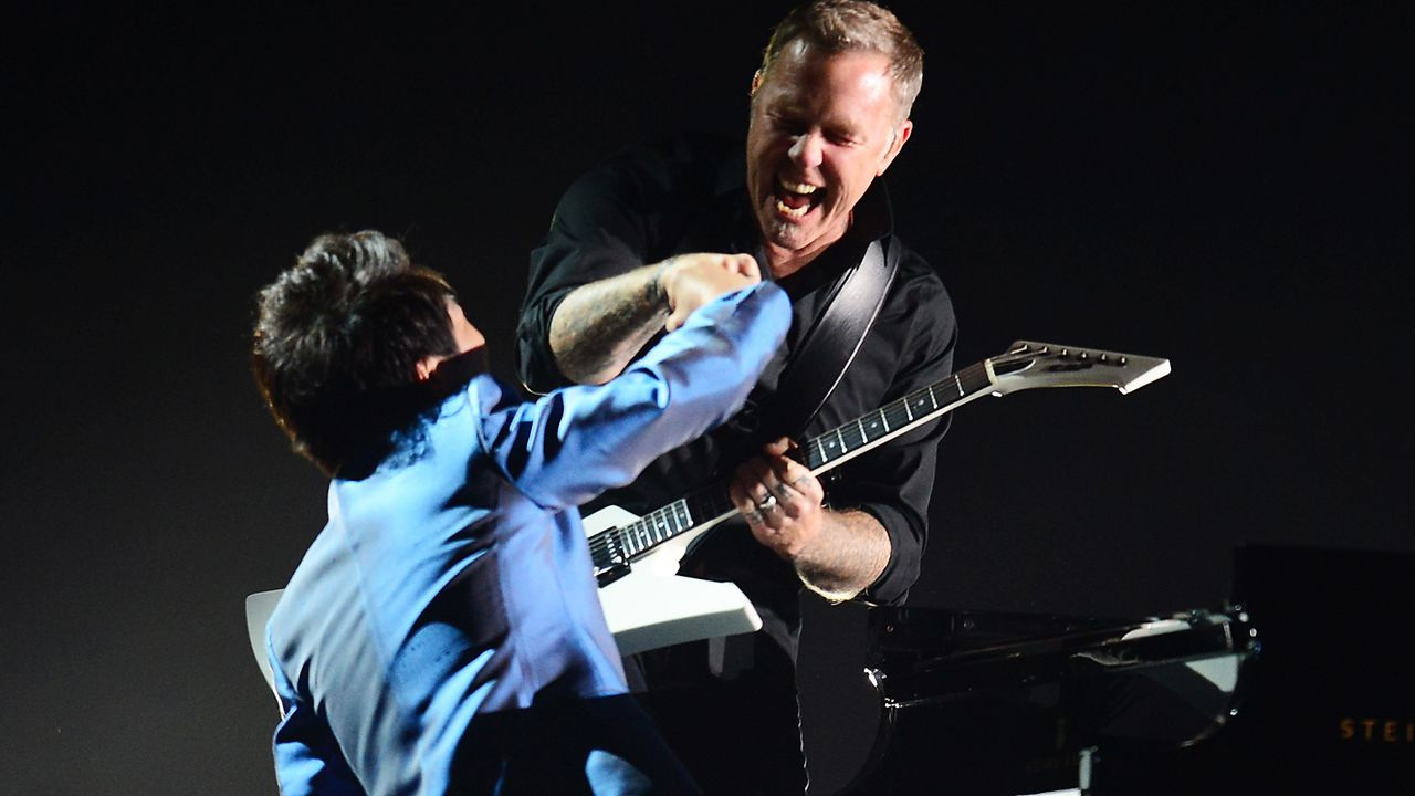 Grammy-Awards-James-Hetfield-Lang-Lang-14-01-26-AFP - Bildquelle: AFP