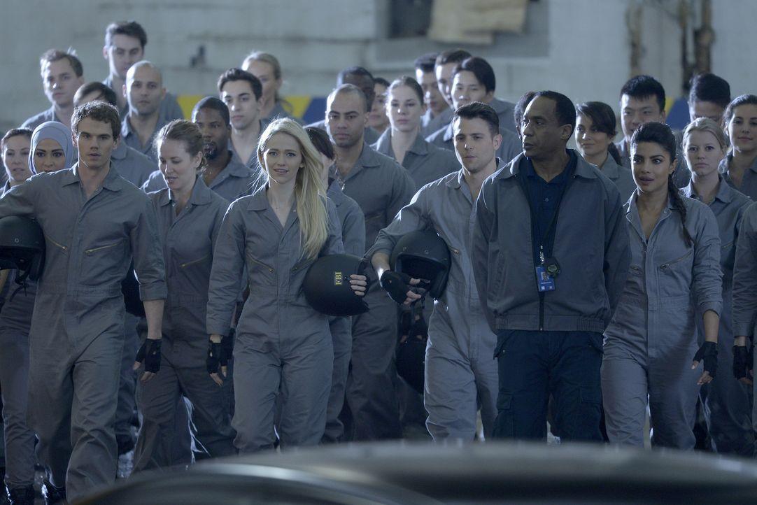In Quantico findet sich das NATS-Team für Fahrstunden zusammen - wobei einige Spannungen entstehen: Will (Jay Armstrong Johnson, vorne l.), Shelby (... - Bildquelle: Philippe Bosse 2015 ABC Studios