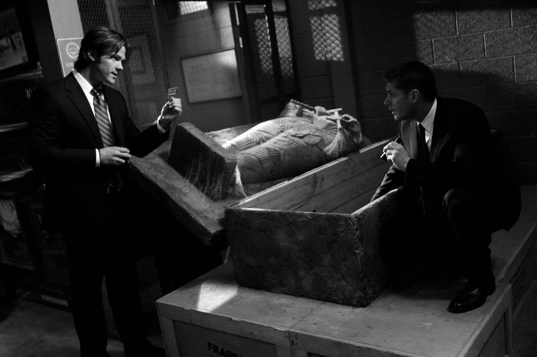 Sam (Jared Padalecki, l.) und Dean Winchester (Jensen Ackles, r.) untersuchen eine mysteriöse Mordserie auf dem Oktoberfest in Pennsylvania ... - Bildquelle: Warner Bros. Television