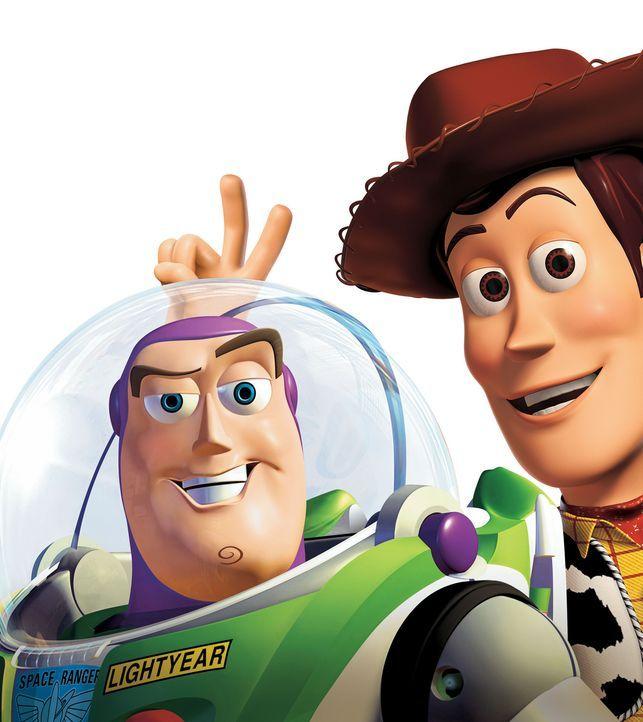 Als Woody, r. von einem Spielzeughändler namens Al Mc Whiggin gestohlen wird, begeben sich seine Spielzeugfreunde aus Andys Kinderzimmer, allen vora... - Bildquelle: Buena Vista International Television