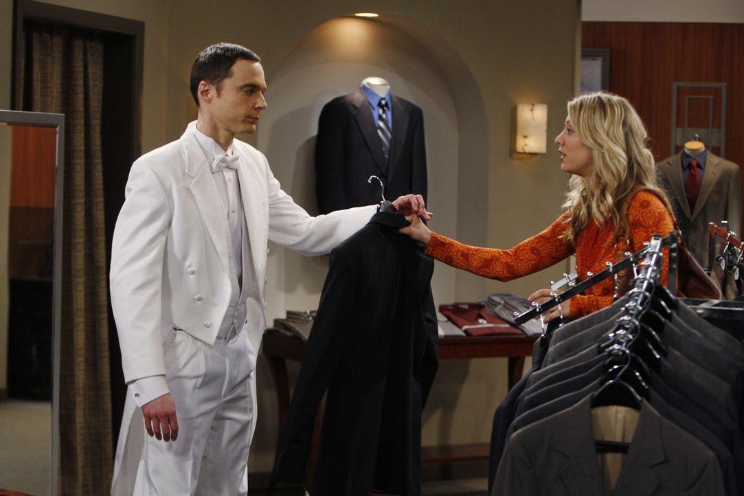 Sheldon (Jim Parsons, l.) hat den diesjährigen Wissenschaftspreis gewonnen und muss nun eine Rede halten. Penny (Kaley Cuoco, r.) ist ihm bei der S... - Bildquelle: Warner Bros. Television