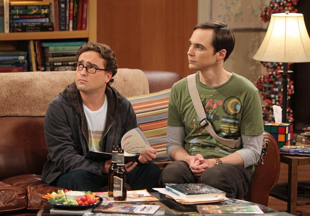 Zwei ganz spezielle Freunde: Leonard (Johnny Galecki, l.) und Sheldon (Jim Parsons, r.) ... - Bildquelle: Warner Bros. Television