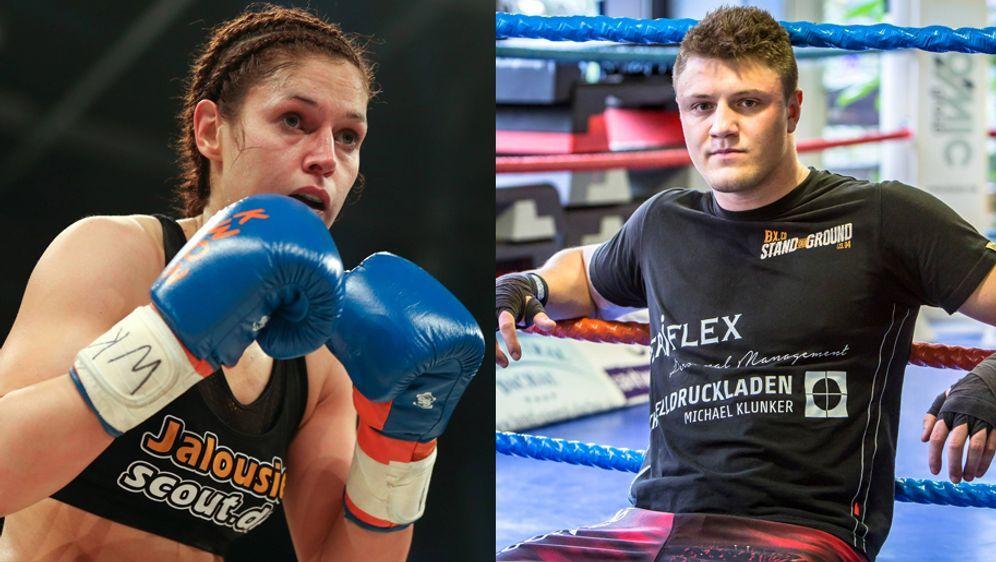 Marie Lang (li.) und Michael Smolik (re.) kämpfen am 18 Novemberbei der ers... - Bildquelle: Imago