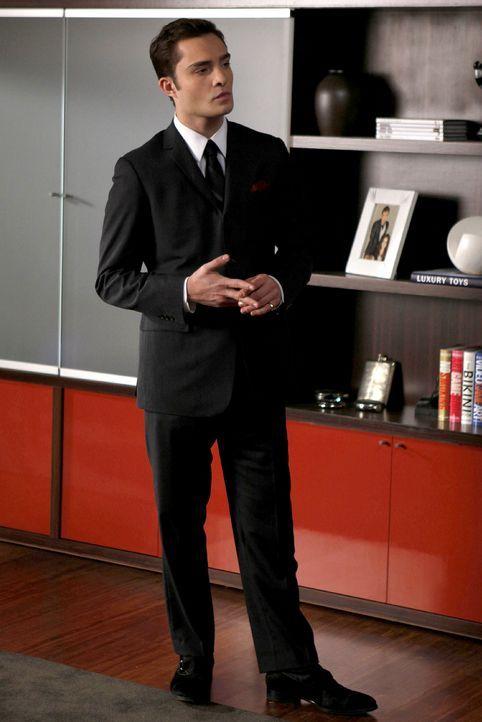 Chuck (Ed Westwick) ist überhaupt nicht erfreut darüber, dass Blair ihn den ganzen Tag babysitten will. - Bildquelle: Warner Brothers