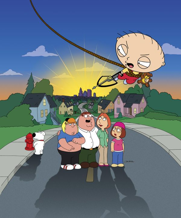 (3. Staffel) - Auch wenn Stewie (oben) das jüngste Familienmitglied ist, weiß er ganz genau, wie er (v.l.n.r.) seinen Hunde-Kumpel Brian, Bruder Chr... - Bildquelle: 2005 FAMILY GUY and TCFFC ALL RIGHTS RESERVED.    2005 FOX BROADCASTING