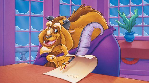 Beim Verfassen eines Briefes zählt das Biest (l.) auf die Hilfe der flinken S...
