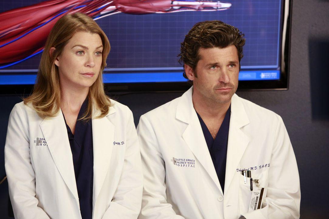 Eine schwere Entscheidung steht ihnen bevor: Meredith (Ellen Pompeo, l.) und Derek (Patrick Dempsey, r.) ... - Bildquelle: ABC Studios