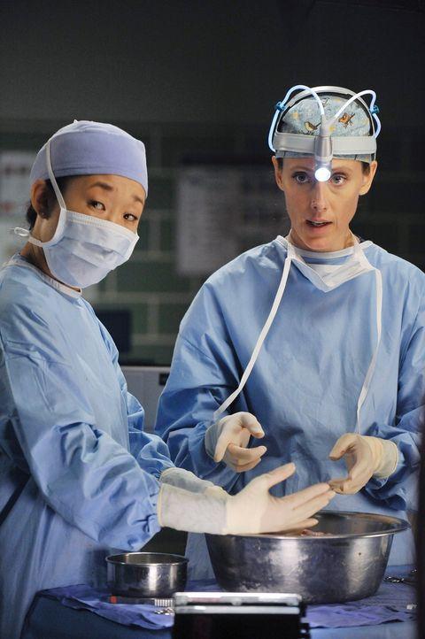 Versuchen Leben zu retten: Teddy (Kim Raver, r.) und Cristina (Sandra Oh, l.) ... - Bildquelle: ABC Studios