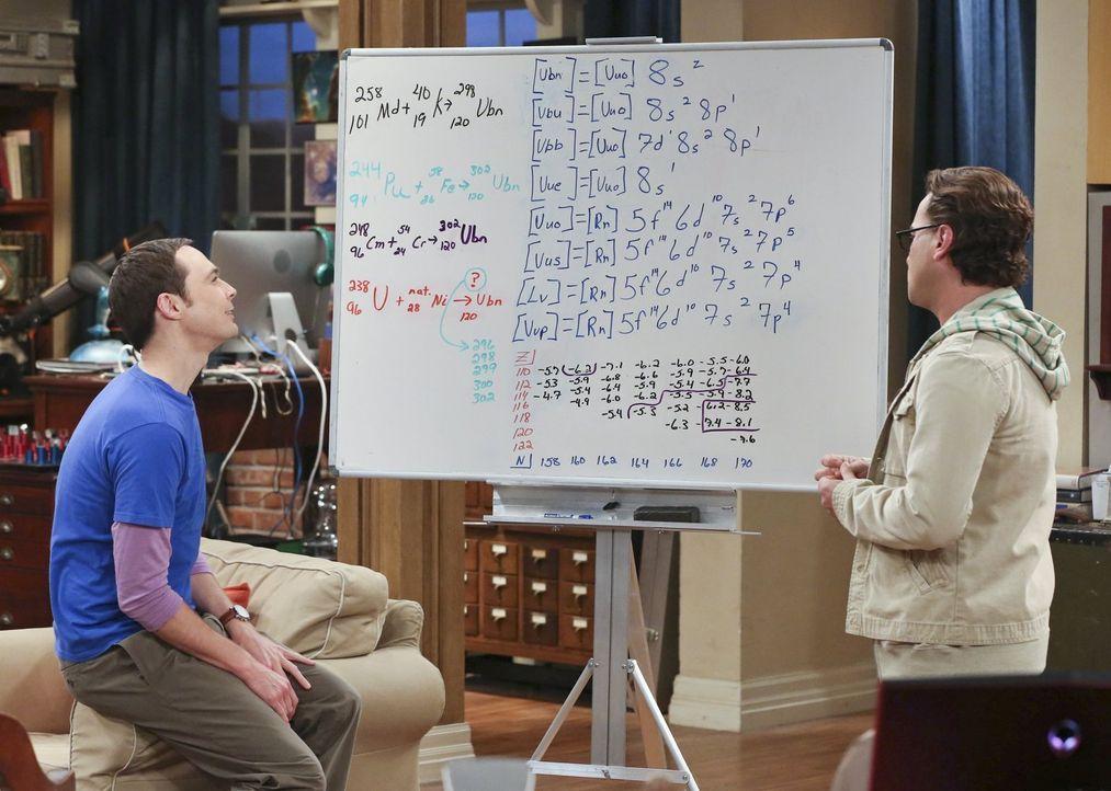 Während Sheldons (Jim Parsons, l.) großer wissenschaftlicher Durchbruch dazu führt, dass er sich wie ein Betrüger fühlt, bringt Howards romantische... - Bildquelle: Warner Brothers Entertainment Inc.