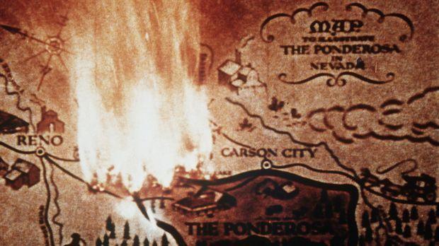 Bonanza - Die Landkarte von Virginia City und Umgebung, der Heimat der Cartwr...